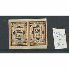 Suriname  22v/22av  Hulpzegel MH/ongebr  CV 38 €