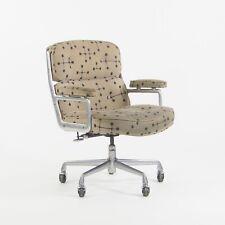 1990's Eames Dot Fabric Herman Miller Time Life Aluminum Executive Desk Chair