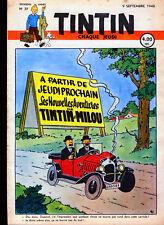 TINTIN   N° 37                 du   9  septembre   1948--