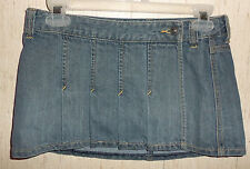 EXCELLENT WOMENS Abercrombie & Fitch DISTRESSED BLUE JEAN MINI SKIRT  SIZE 00