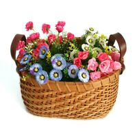 2 PcS set Handmade Sundries Organizer Rattan Plant Box Wicker Basket Nursery Pot
