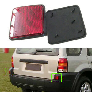 2x For Ford Escape 2004-2007 Car Left+Right Rear Tail Light Lamp Cover Reflector