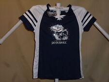 KANSAS JAYHAWKS  Fan Fashion JERSEY/Shirt  by MAJESTIC  Womens Small   NWT