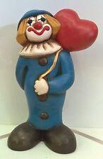 THUN Pagliaccio Clown vecchio grande cm 20 raro con cuore