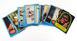 Star Wars Lot 24 Topps Trading Cards + Chewbacca Sticker Series 1 1977 Vinatge