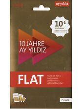 AyStar Ay Yildiz Prepaid Sim Karte mit 10€ sofort Startguthaben O2&E-Plus Netz