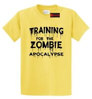 Training For The Zombie Apocalypse Funny T Shirt Workout Gym Tee