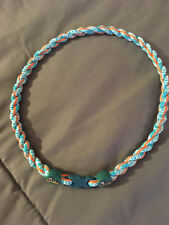 """MIAMI DOLPHINS 22"""" Titanium Double Rope NECKLACE NEW! FAST! FREE SHIP!"""