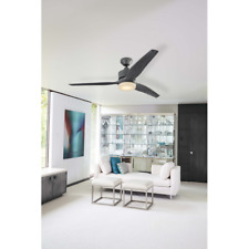 """Damp Outdoor 60"""" Large Galvanized Ceiling Fan + Remote Industrial Patio Light"""