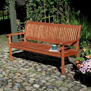 Willington Hardwood Garden Bench 1.5m 5ft Brown