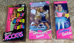 Barbie and The Rockers Diva 1986,1996 Penn State,1994 Tooth Fairy Walmart,(lot3)