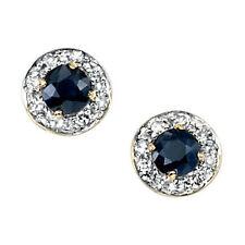 Stud Sapphire Yellow Gold Fine Earrings