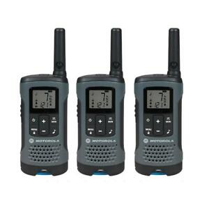 Motorola T200TP Talkabout Rechargeable Two-Way Radios Walkie Talkies - 3-pack