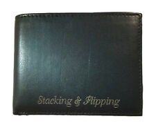 Personalized Wallet Mens Black Leather Bifold Engraved Free Groomsman Best Man