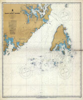 1950 Nautical Map of Grand Manan Channel Maine
