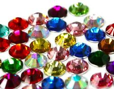 2000 Crystal Flat Back Rhinestones Gems Diamante Bead Nail Art Crafts 2mm