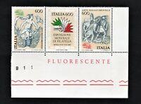 francobollo repubblica italiana 1985 Esposizione internazionale di filatelia mnh