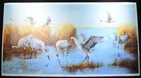 "Special Edition Print ""Sandhill Cranes"" by Hong Jinchun  (洪金春).  Limited Open Ed"