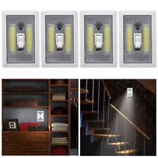 4 X COB LED Wall Switch Wireless Battery Operated Closet Cordless Night Light
