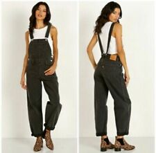 Levis Premium Womens BAGGY Overalls Black Loose Cannon NEW XS S M