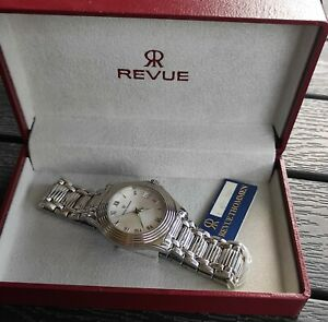 REVUE THOMMEN  Quarzo Sapphire Crystal  10 ATM Swiss Vintage NEW OLD STOCK