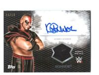 WWE Konnor 2015 Topps Undisputed Black Autograph Relic Card SN 18 of 50