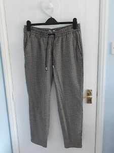 Ladies Tapered Checked Trousers Size 12 by H&M