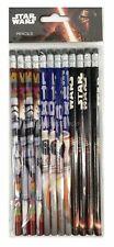 Disney Star Wars Pencils School stationary Supplies 12pc WP-12-STW