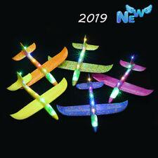 LED Leichte Schaum Hand werfen Flugzeug SegelFlugzeuge Flugzeug Kinder Spielzeug