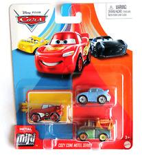 DISNEY PIXAR CARS MINI RACERS COZY CONE MOTEL SERIES RADIATOR MCQUEEN 3 PACK