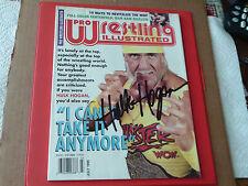 1995 Hulk Hogan Hand Signed Autographed Pro Wrestling Magazine !