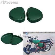 2Pcs Green Motorcycle Steel Side Cover Box Intake Lid Fits Simson S51 S50 S70