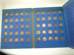 (42) ROOSEVELT SILVER DIME COINS IN BOOK