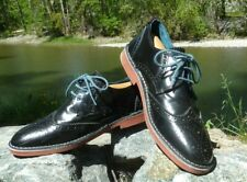 """TED BAKER LONDON SHOES 9USA 10 3/8"""" x 3 15/16"""" INSIDE PATENT LEATHER BROGUES E42"""