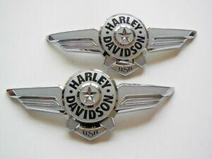 Harley Davidson Tankembleme Tankschilder Embleme 14100968 & 14100969
