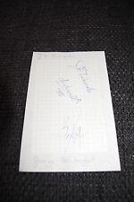 DISHWALLA J.R. Richards & George Pendergast signed Autogramm auf Zettel InPerson
