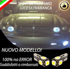 COPPIA LUCI DI POSIZIONE A LED JAGUAR X-TYPE T10 W5W BIANCO CANBUS NO AVARIA