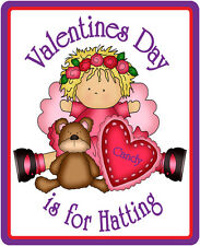 4X PURPLE T SHIRT FOR RED HAT LADIES OF SOCIETY W/ VALENTINES DAY DESIGN