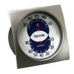 NEW TAYLOR 5504 INDOOR ASHTON HUMIDIGUIDE HYGROMETER THERMOMETER SALE