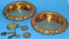 WINE COASTERS STERLING & GOLD WASH BY HOWARD & Co. N.Y. c1882 GRAPES EXCEPTIONAL