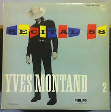 YVES MONTAND recital 58 vol 2 LP Mint- B 77.322 L Philips 1959 France Mono