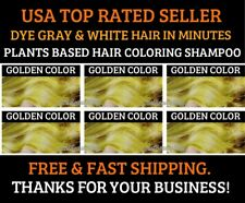 GOLDEN COLOR PLANTS BASED HAIR DYE SHAMPOO COLOR GRAY&WHITE HAIR IN MINUTES
