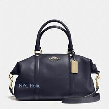 New Coach F55662 Central Satchel In Pebble LeatherMidnight Navy NWT $395 MSRP
