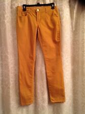 Mission Supply Co. Women's Gold Jeans Skinny Pants Straight Leg Size 9