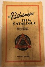 RARE Vintage PATHESCOPE Film catalogo, 1955 Prima Edizione, 9.5mm SILENT & Sound