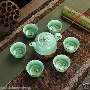 Evening Dinner Fathers Day Creamer and Sugar Set and Teapot for Adults,Wedding,Tea Party China Porcelain Teapot Set-15 pcs Includes Tea Cups and Saucer YALONG Rose Tea Set