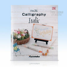 Italic Calligraphy Booklet, how to guide, 28 pages, A to Zig calligraphy guide
