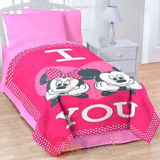 "Disney Mickey Minnie Mouse Raschel Plush Blanket  Bedspread Oversize 62""x90"""
