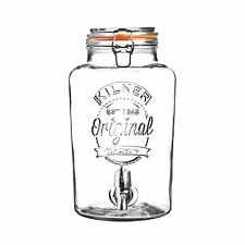Kilner 5 Litre Clip Top Round Drinks Water Dispenser Kitchen Party Jar Container