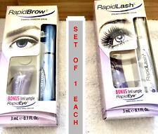 RapidLash Eyelash Serum & Rapidbrow Brow Serum Set  Each 0.1oz ~NEW ~Bonus